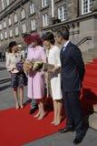 皇家由丹麦的总理招呼 图库摄影