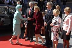 皇家由丹麦的总理招呼 免版税图库摄影