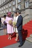 皇家由丹麦的总理招呼 免版税库存照片