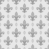 皇家百合无缝的样式 免版税库存照片