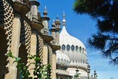 皇家穹顶宫布赖顿亭子圆顶和装饰的墙壁  图库摄影