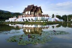 皇家穹顶宫Ho西康省Luang在Chaingmai的,泰国皇家公园Ratchaphruek 库存照片