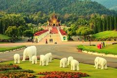 皇家穹顶宫Ho西康省Luang -其中一个受欢迎的旅游胜地和地标在泰国 库存图片