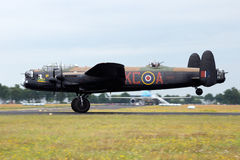 皇家空军兰卡斯特 免版税库存照片