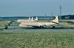 皇家空军叫卖小贩Siddley猎人MR2 XV234早期前兆,反潜艇航空器 免版税库存照片