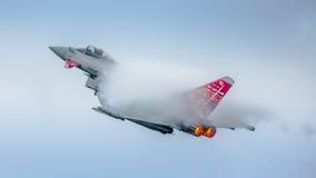 皇家空军显示台风喷气机 免版税图库摄影