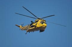 皇家空军海盗头子抢救直升机 库存照片