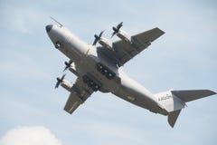 皇家空军空中客车A400M运输航空器 库存照片