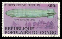皇家空军策帕林飞艇II LZ 130 免版税库存图片