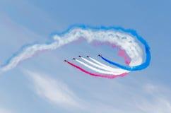 皇家空军红色箭头队 免版税库存图片