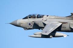 皇家空军龙卷风GR 4架轰炸机喷气式歼击机飞机 图库摄影