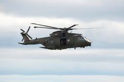 皇家空军默林直升机 库存图片