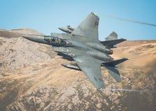 从皇家空军Lakenheath的美国空军F15 免版税库存照片