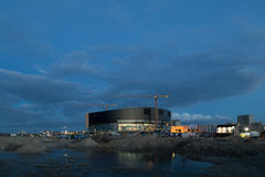 皇家竞技场在哥本哈根建设中 免版税库存照片