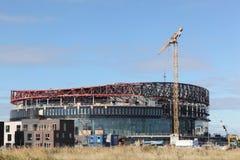 皇家竞技场的建筑在哥本哈根 免版税图库摄影
