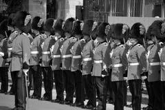 皇家第22个军团的战士游行  免版税库存图片