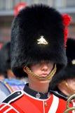 皇家第22个军团的战士游行  库存照片