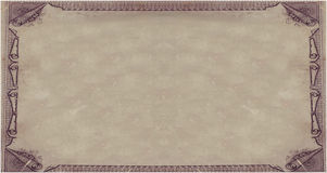 皇家纸的羊皮纸 图库摄影
