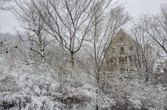 皇家维多利亚医院在冬天 库存图片