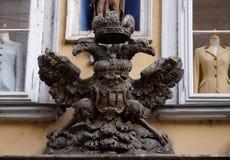 皇家老鹰象征在格拉茨 库存图片