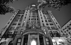 皇家肝脏大厦,利物浦,英国 免版税图库摄影