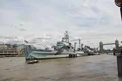 皇家英国海军在伦敦 免版税图库摄影