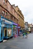 皇家英里的商店在爱丁堡,苏格兰 图库摄影