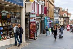 皇家英里的商店在爱丁堡,苏格兰 免版税库存图片