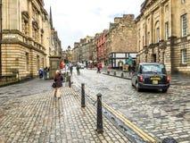 皇家英里街道在爱丁堡老镇,英国 免版税图库摄影