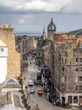 皇家英里,爱丁堡苏格兰 库存照片