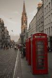 皇家英里,爱丁堡,苏格兰 免版税图库摄影