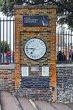 皇家观测所在格林威治,伦敦,英国,大英国 免版税库存图片