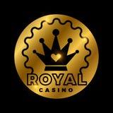 皇家赌博娱乐场金黄传染媒介设计 皇族释放例证