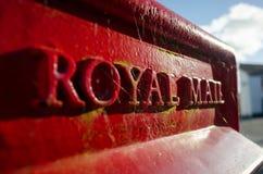 皇家邮件邮箱特写镜头 免版税库存照片
