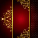 皇家金黄框架菜单卡片传染媒介 免版税库存照片