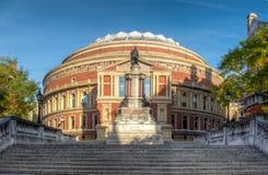 皇家阿尔伯特大厅在南肯辛顿伦敦,英国 库存照片