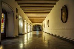 皇家霍尔在普伊格,西班牙圣玛丽修道院里  免版税库存照片