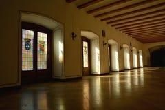 皇家霍尔在普伊格,西班牙圣玛丽修道院里  免版税库存图片