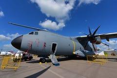 皇家马来西亚人空军队空中客车A400m军事在新加坡Airshow运输在显示的航空器 库存图片