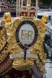 皇家驳船的Gloriana皇家冠 库存照片