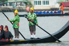皇家驳船队伍,曼谷2012年 免版税库存照片