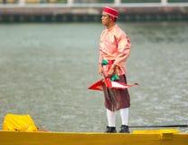 皇家驳船队伍,曼谷2012年 库存照片