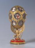 皇家费伯奇鸡蛋在皇家宫殿在圣彼得堡,俄罗斯 免版税库存图片