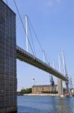 皇家维多利亚船坞桥梁在伦敦 库存照片
