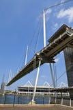 皇家维多利亚船坞桥梁在伦敦 免版税库存图片