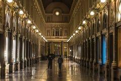 皇家画廊布鲁塞尔圣于贝尔(Galerie du Roi, Galerie du雷讷) 免版税库存照片