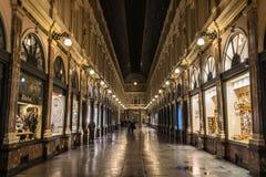 皇家画廊布鲁塞尔圣于贝尔(Galerie du Roi, Galerie du雷讷) 库存图片