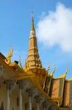 皇家2柬埔寨的宫殿 库存图片