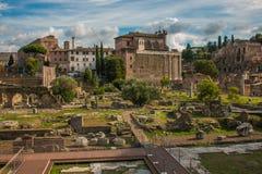 皇家a的在罗马的历史的中心 图库摄影