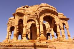皇家Bada Bagh Chhatris或纪念碑  库存照片